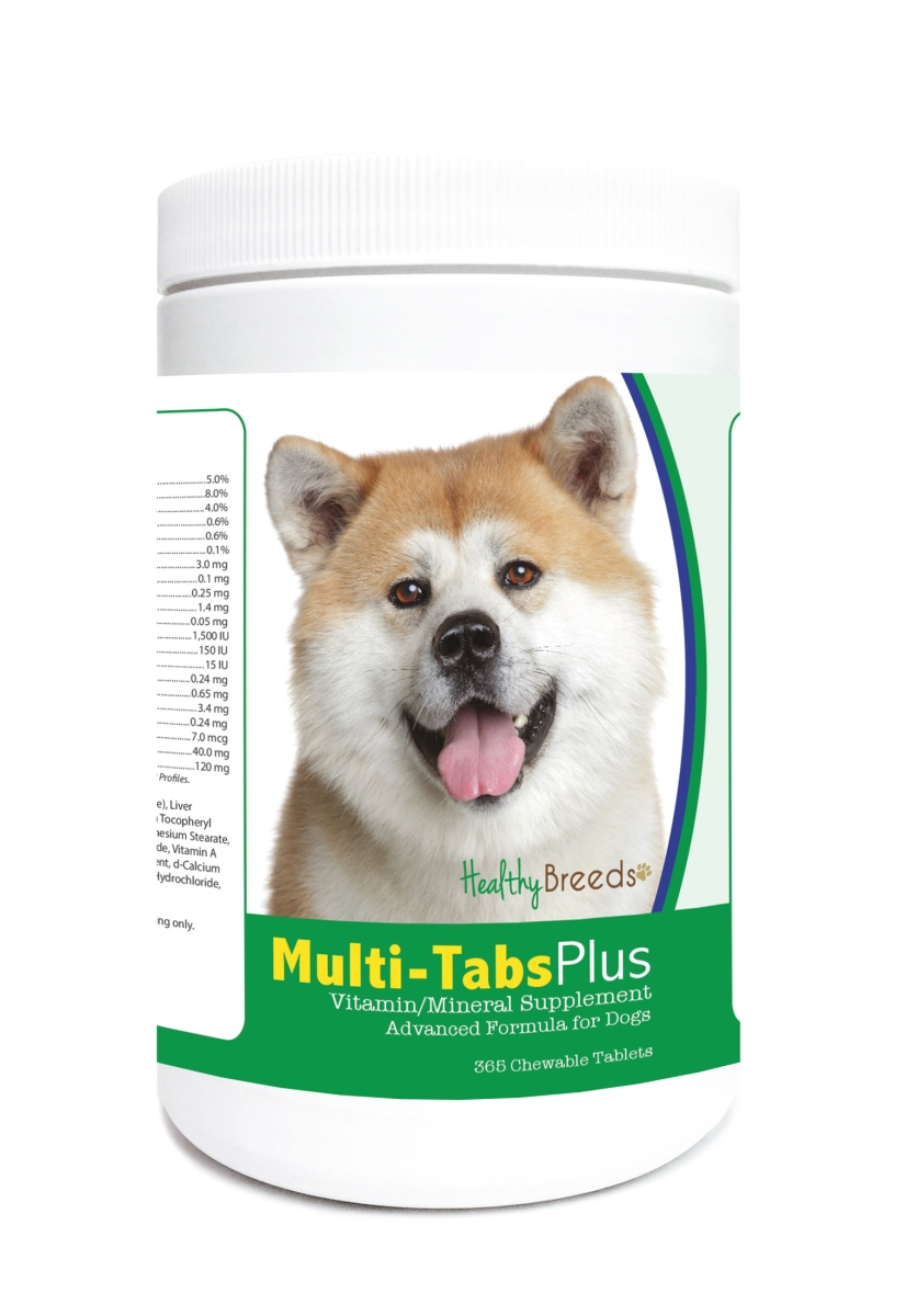 Healthy Breeds 840235122067 Akita Multi-Tabs Plus Chewable Tablets - 365 Count