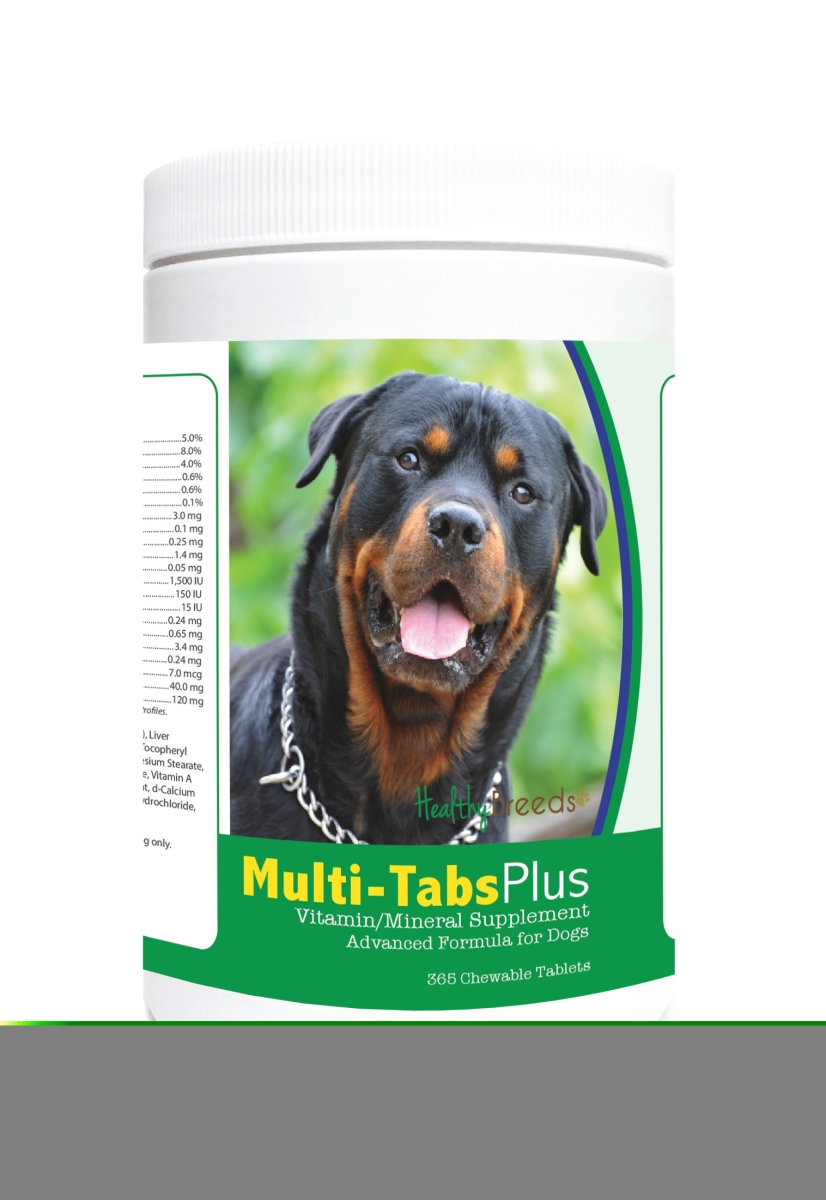 Healthy Breeds 840235122074 Rottweiler Multi-Tabs Plus Chewable Tablets - 365 Count