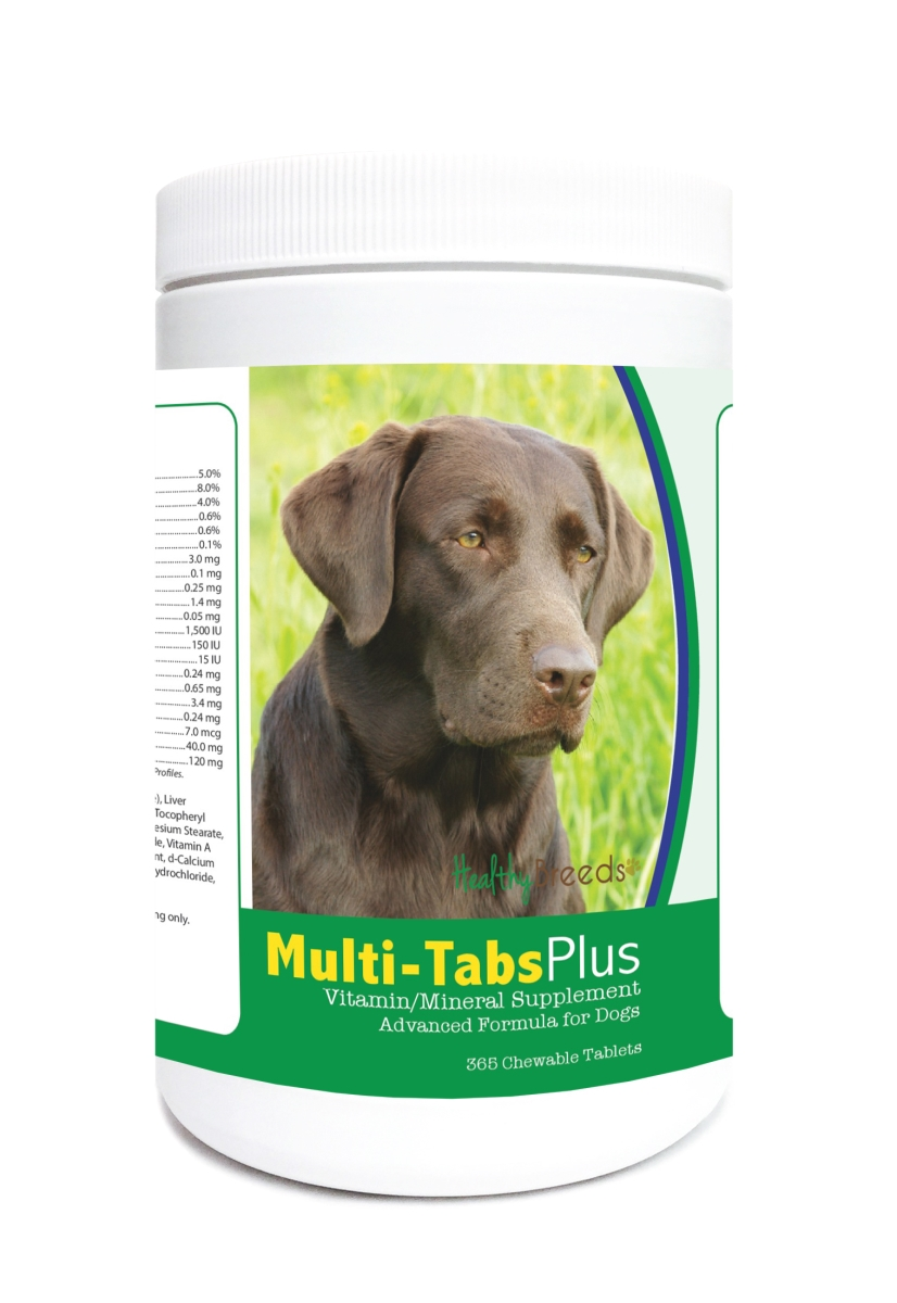 Healthy Breeds 840235122128 Labrador Retriever Multi-Tabs Plus Chewable Tablets - 365 Count