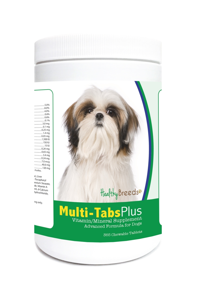 Healthy Breeds 840235122326 Shih Tzu Multi-Tabs Plus Chewable Tablets - 365 Count