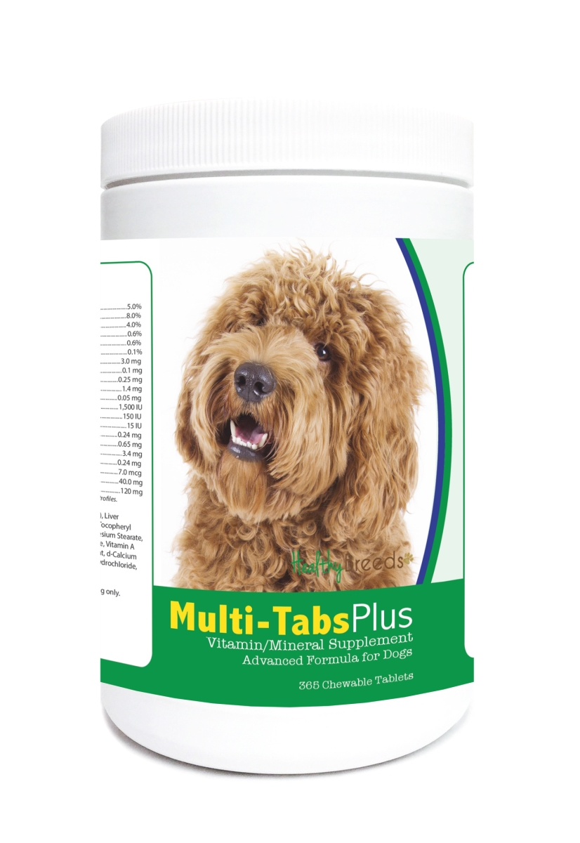 Healthy Breeds 840235122609 Labradoodle Multi-Tabs Plus Chewable Tablets - 365 Count