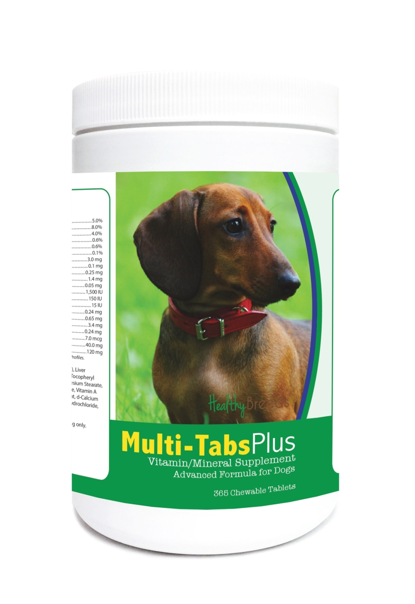 Healthy Breeds 840235122739 Dachshund Multi-Tabs Plus Chewable Tablets - 365 Count