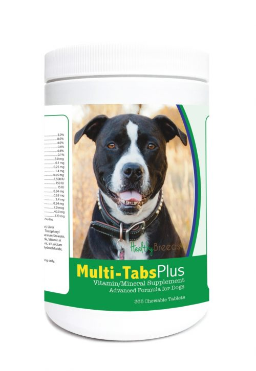 Healthy Breeds 840235122869 Pit Bull Multi-Tabs Plus Chewable Tablets - 365 Count