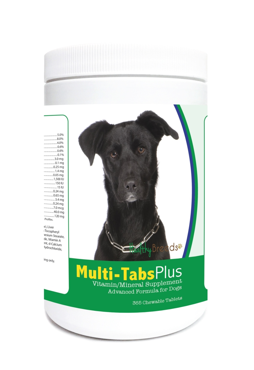 Healthy Breeds 840235122876 Mutt Multi-Tabs Plus Chewable Tablets - 365 Count
