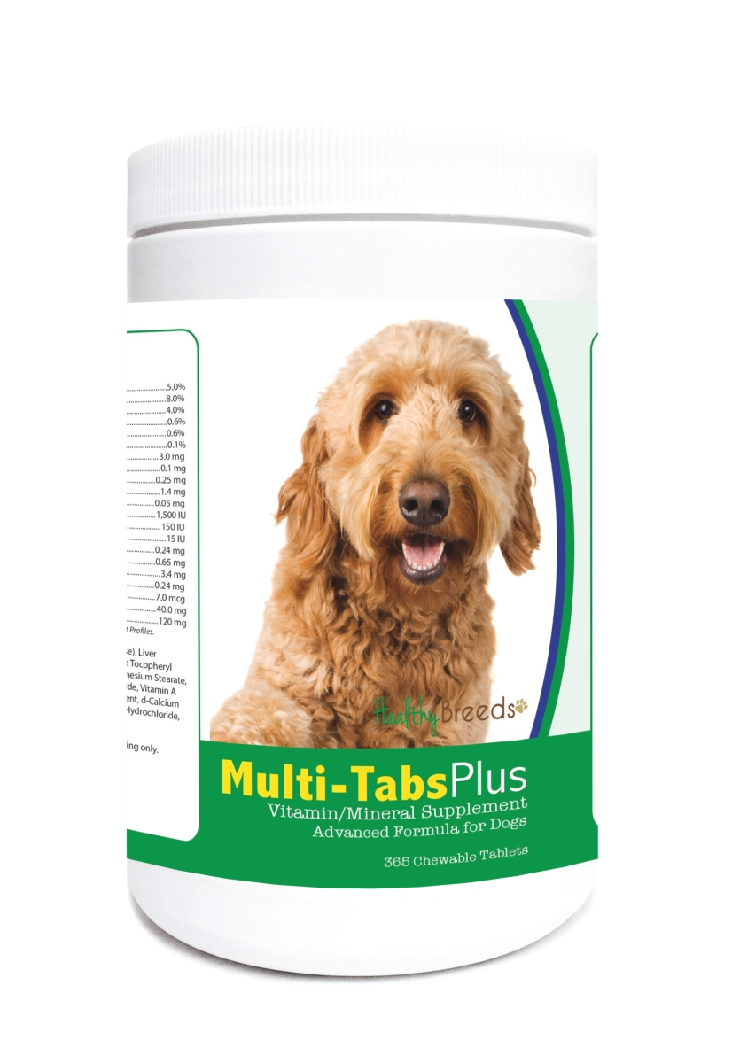 Healthy Breeds 840235122890 Goldendoodle Multi-Tabs Plus Chewable Tablets - 365 Count