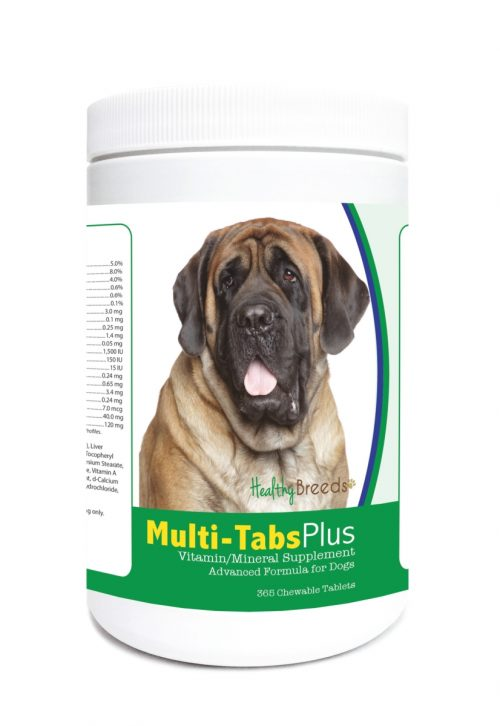 Healthy Breeds 840235123385 Mastiff Multi-Tabs Plus Chewable Tablets - 365 Count