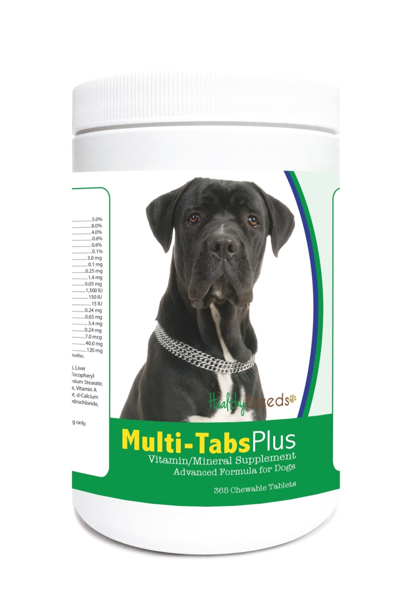 Healthy Breeds 840235123576 Cane Corso Multi-Tabs Plus Chewable Tablets - 365 Count