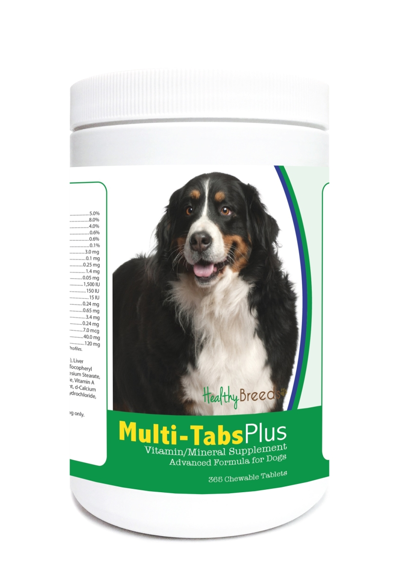 Healthy Breeds 840235123583 Bernese Mountain Dog Multi-Tabs Plus Chewable Tablets - 365 Count