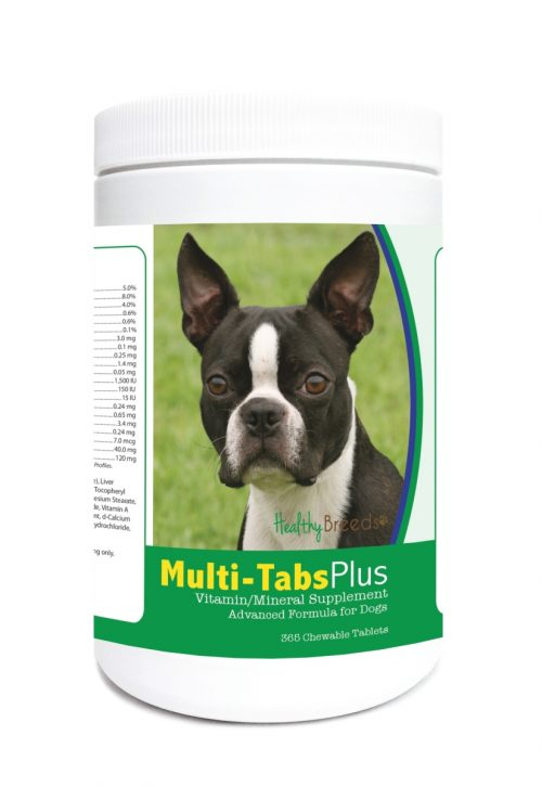 Healthy Breeds 840235123613 Boston Terrier Multi-Tabs Plus Chewable Tablets - 365 Count