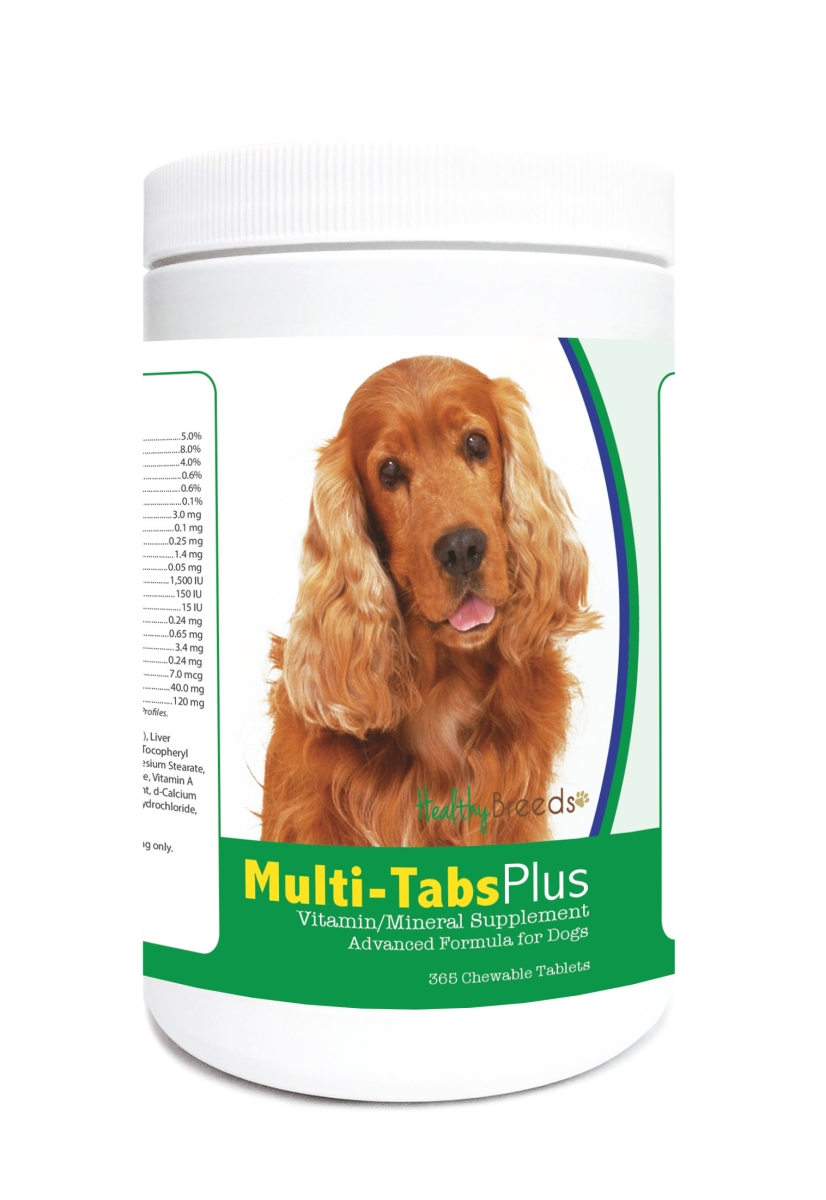 Healthy Breeds 840235124023 Cocker Spaniel Multi-Tabs Plus Chewable Tablets - 365 Count
