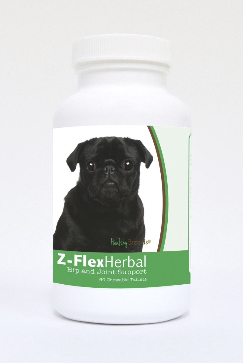 Healthy Breeds 840235124177 Pug Natural Joint Support Chewable Tablets - 60 Count