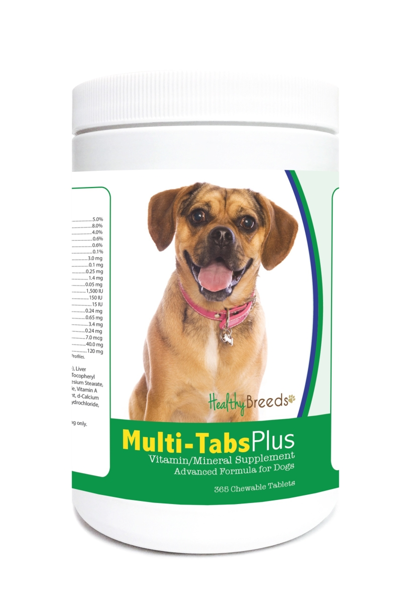 Healthy Breeds 840235124252 Puggle Multi-Tabs Plus Chewable Tablets - 365 Count