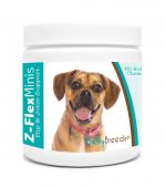 Healthy Breeds 840235137238 Puggle Z-Flex Minis Hip & Joint Support Soft Chews - 60 Count