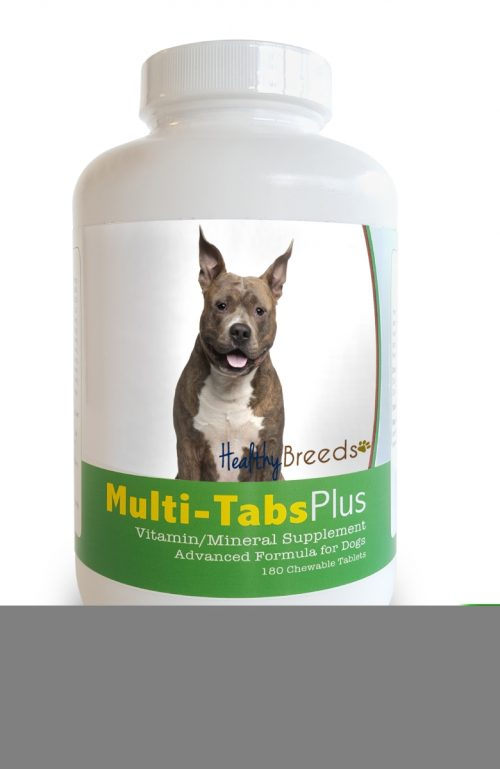 Healthy Breeds 840235139720 American Staffordshire Terrier Multi-Tabs Plus Chewable Tablets - 180 Count