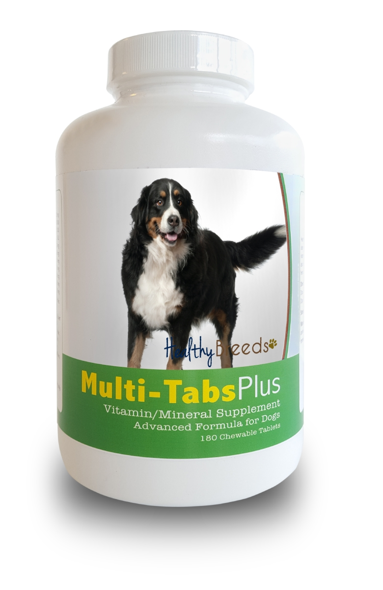 Healthy Breeds 840235139812 Bernese Mountain Dog Multi-Tabs Plus Chewable Tablets - 180 Count