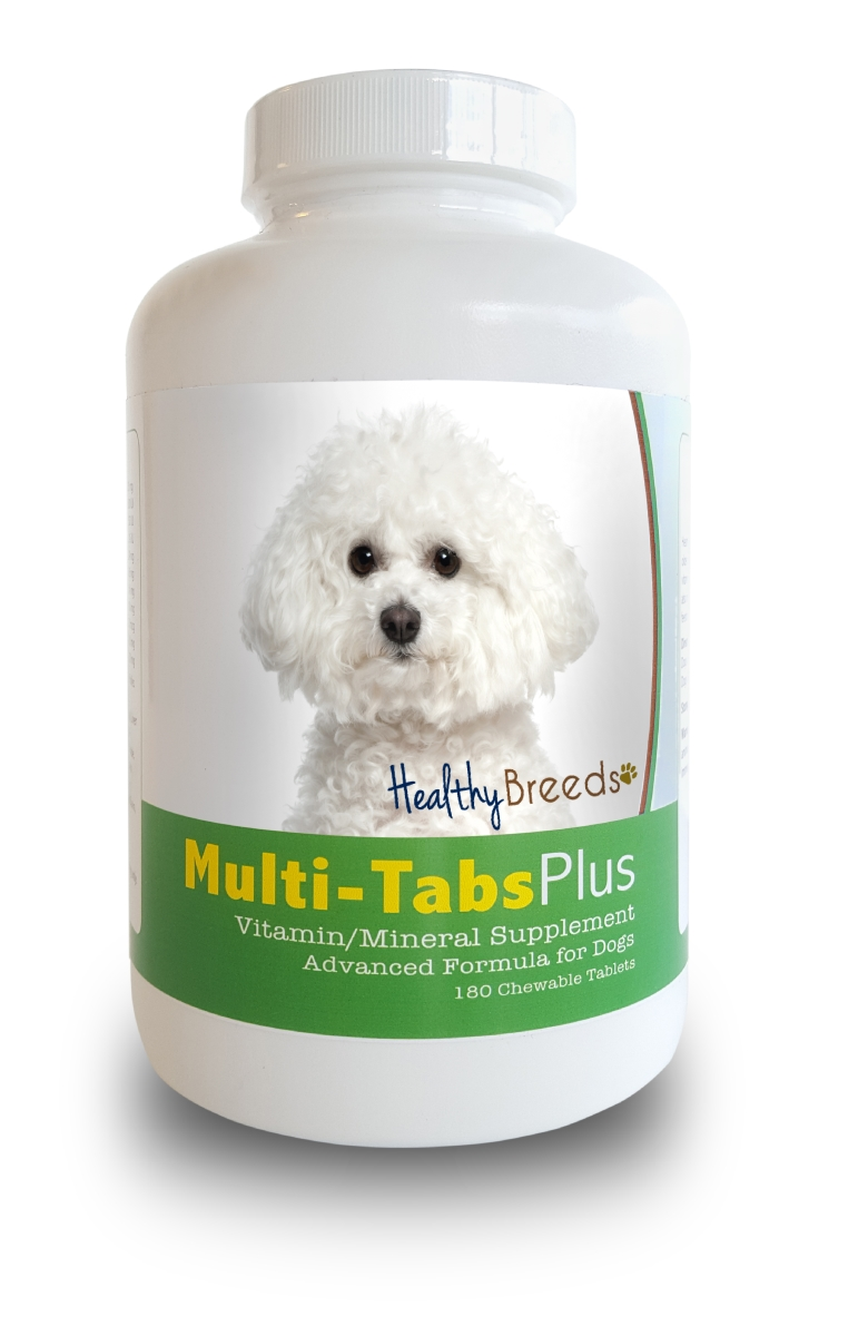 Healthy Breeds 840235139829 Bichon Frise Multi-Tabs Plus Chewable Tablets - 180 Count