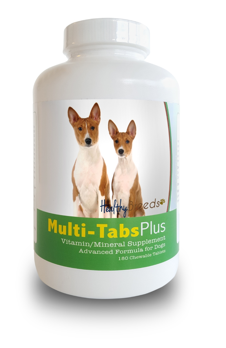Healthy Breeds 840235139904 Basenji Multi-Tabs Plus Chewable Tablets - 180 Count