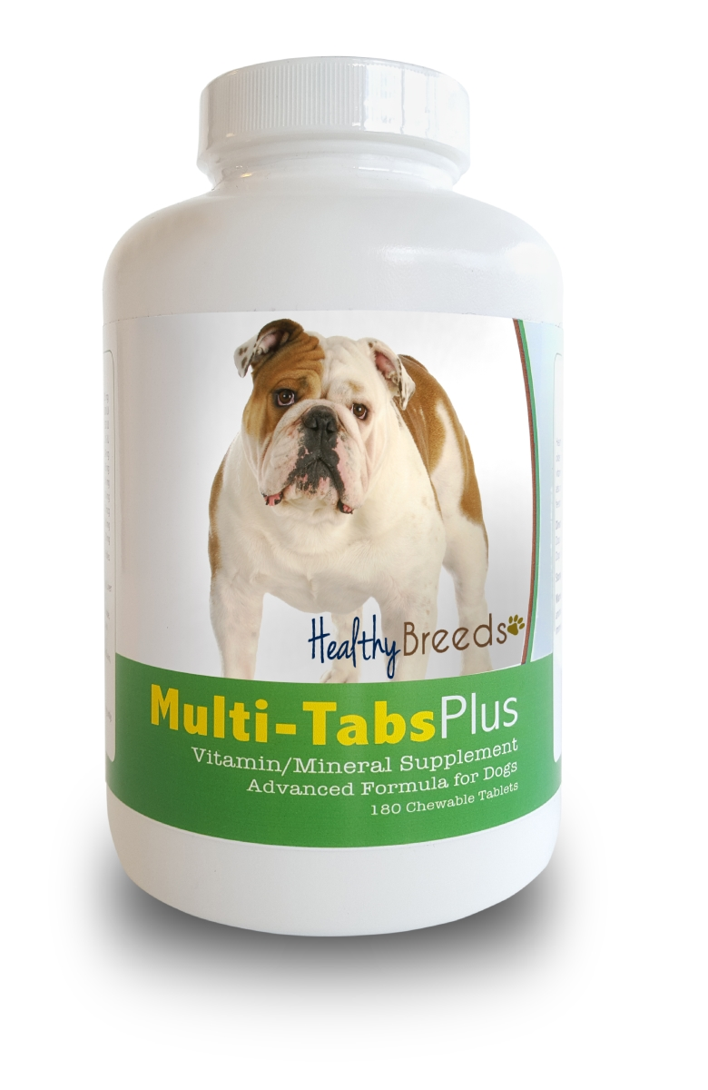 Healthy Breeds 840235139935 Bulldog Multi-Tabs Plus Chewable Tablets - 180 Count