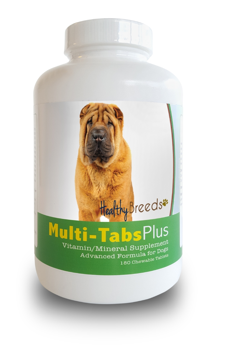 Healthy Breeds 840235140047 Chinese Shar Pei Multi-Tabs Plus Chewable Tablets - 180 Count