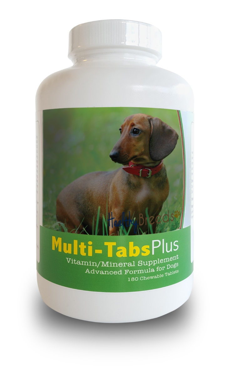 Healthy Breeds 840235140061 Dachshund Multi-Tabs Plus Chewable Tablets - 180 Count