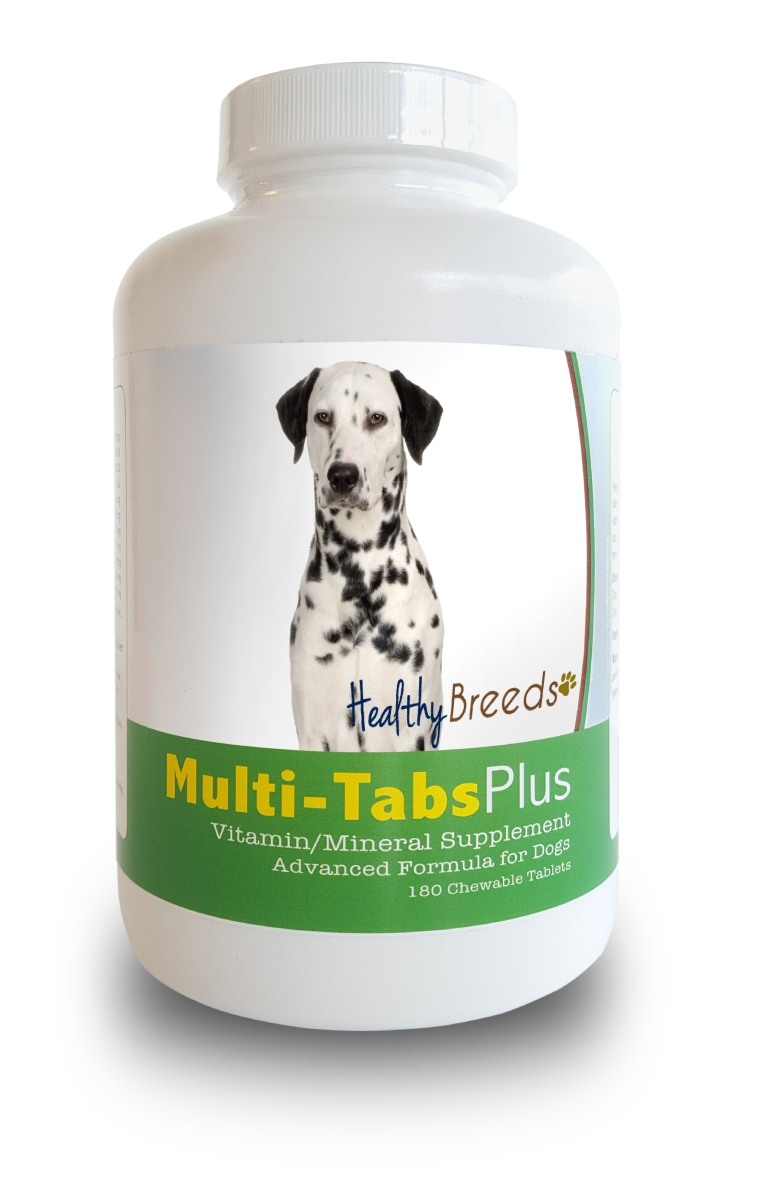 Healthy Breeds 840235140092 Dalmatian Multi-Tabs Plus Chewable Tablets - 180 Count