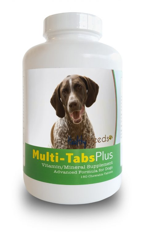 Healthy Breeds 840235140276 German Shorthaired Pointer Multi-Tabs Plus Chewable Tablets - 180 Count