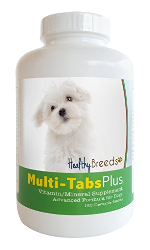 Healthy Breeds 840235140443 Maltese Multi-Tabs Plus Chewable Tablets 180 Count
