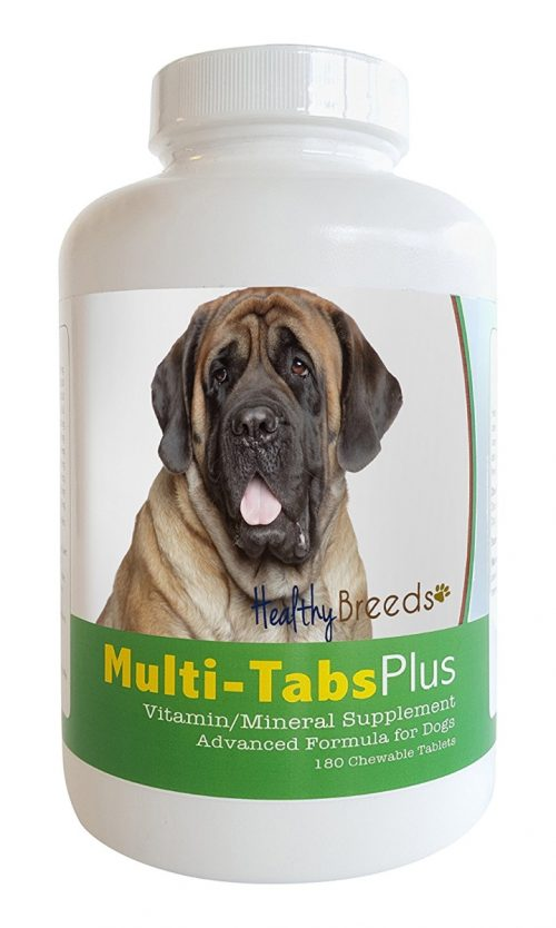 Healthy Breeds 840235140450 Mastiff Multi-Tabs Plus Chewable Tablets 180 Count