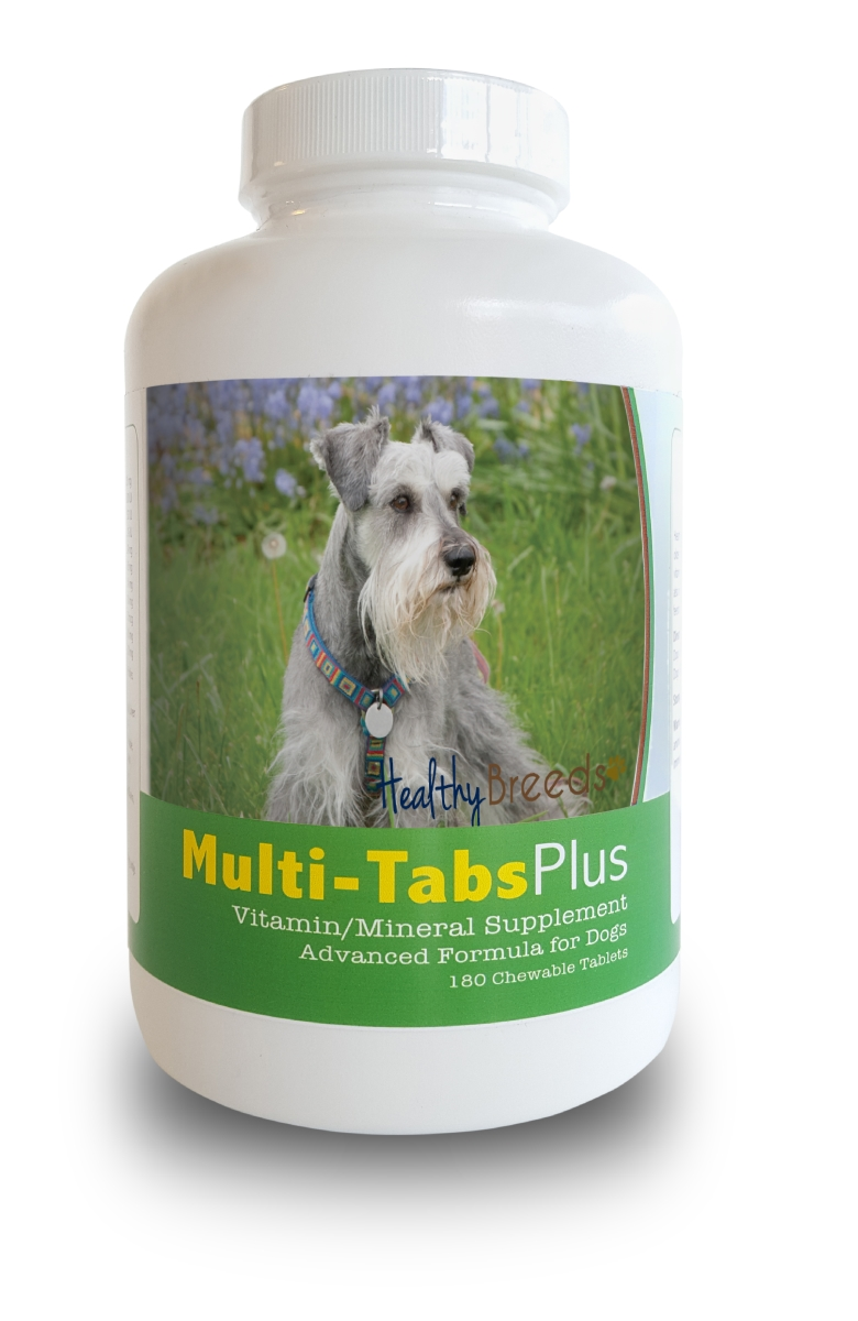 Healthy Breeds 840235140481 Miniature Schnauzer Multi-Tabs Plus Chewable Tablets 180 Count
