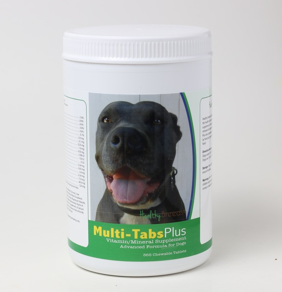 Healthy Breeds 840235140566 Pit Bull Multi-Tabs Vitamin Plus Chewable Tablets 180 Count