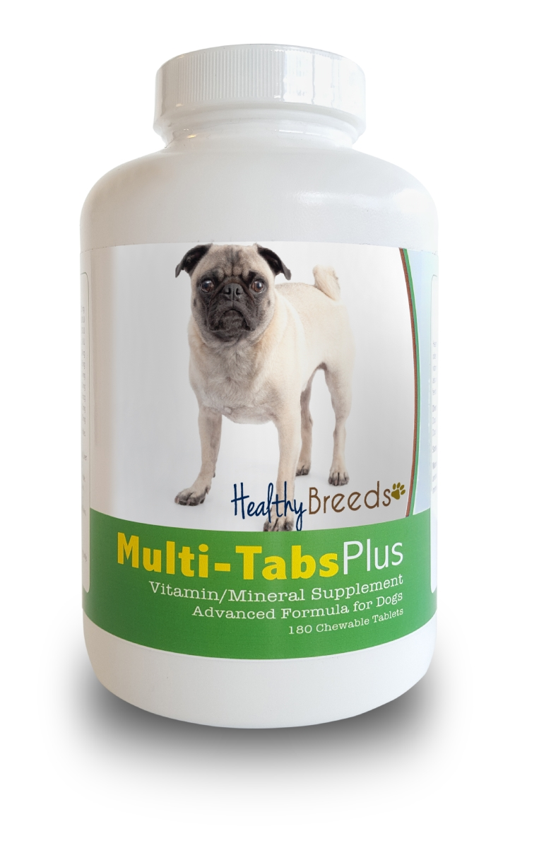 Healthy Breeds 840235140658 Pug Multi-Tabs Plus Chewable Tablets 180 Count