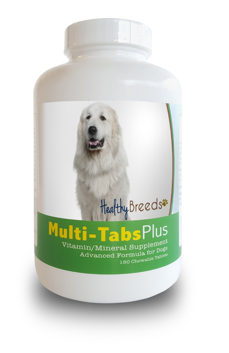 Healthy Breeds 840235140672 Great Pyrenees Multi-Tabs Plus Chewable Tablets 180 Count