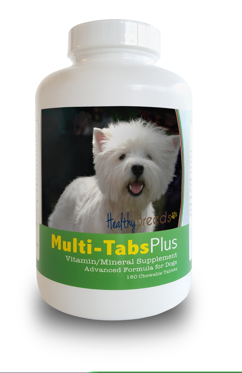 Healthy Breeds 840235140894 West Highl & White Terrier Multi-Tabs Plus Chewable Tablets 180 Count