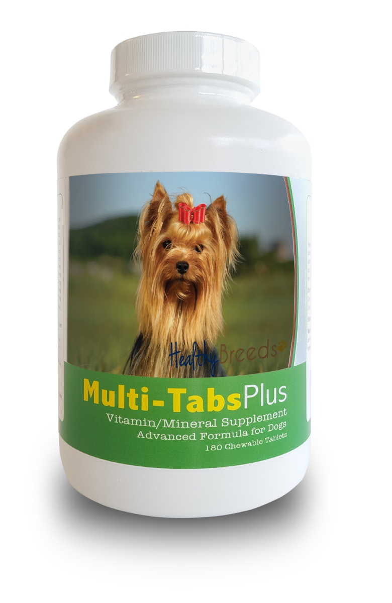 Healthy Breeds 840235140917 Yorkshire Terrier Multi-Tabs Plus Chewable Tablets 180 Count