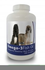 Healthy Breeds 840235140931 Afghan Hound Omega-3 Fish Oil Softgels 180 Count