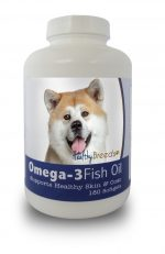 Healthy Breeds 840235140955 Akita Omega-3 Fish Oil Softgels 180 Count