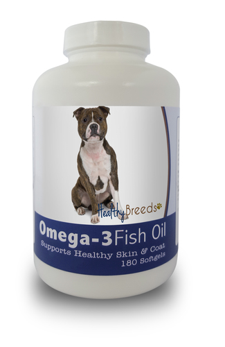 Healthy Breeds 840235140979 Staffordshire Bull Terrier Omega-3 Fish Oil Softgels 180 Count