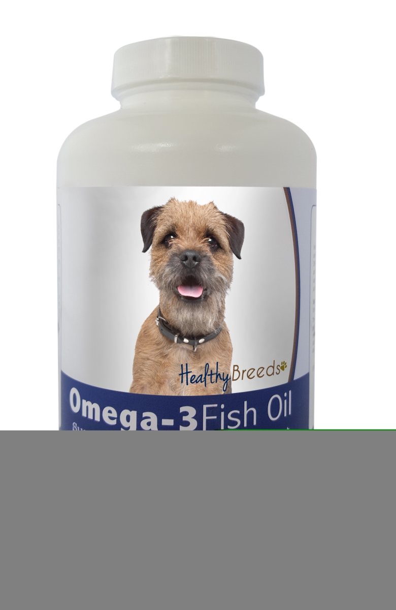 Healthy Breeds 840235141037 Border Terrier Omega-3 Fish Oil Softgels 180 Count