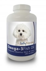 Healthy Breeds 840235141075 Bichon Frise Omega-3 Fish Oil Softgels 180 Count