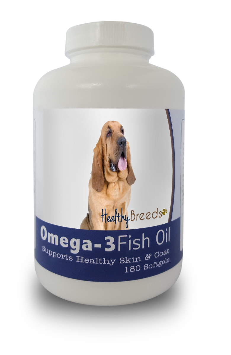 Healthy Breeds 840235141099 Bloodhound Omega-3 Fish Oil Softgels 180 Count
