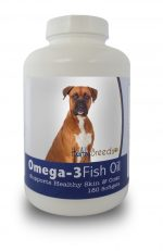 Healthy Breeds 840235141112 Boxer Omega-3 Fish Oil Softgels 180 Count