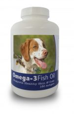 Healthy Breeds 840235141129 Brittany Omega-3 Fish Oil Softgels 180 Count