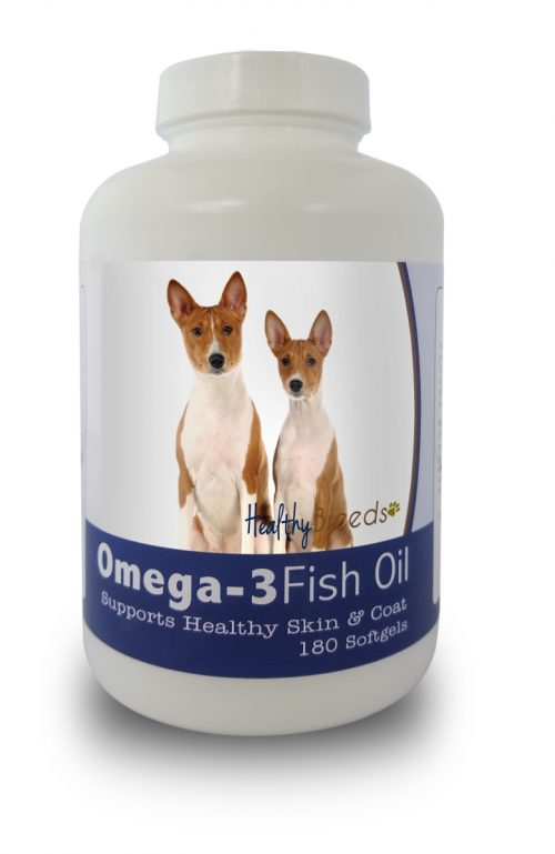 Healthy Breeds 840235141143 Basenji Omega-3 Fish Oil Softgels 180 Count
