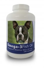 Healthy Breeds 840235141150 Boston Terrier Omega-3 Fish Oil Softgels 180 Count