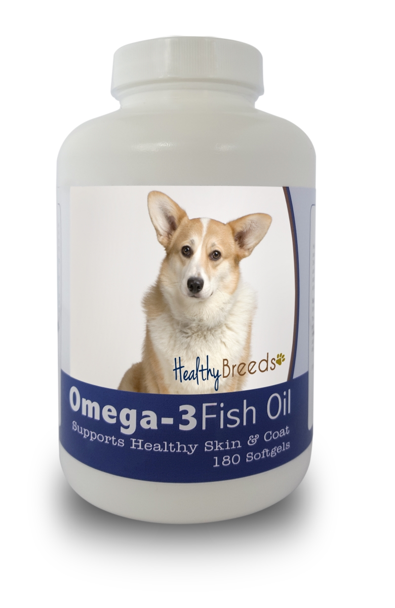 Healthy Breeds 840235141211 Cardigan Welsh Corgi Omega-3 Fish Oil Softgels 180 Count