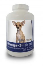 Healthy Breeds 840235141228 Chihuahua Omega-3 Fish Oil Softgels 180 Count