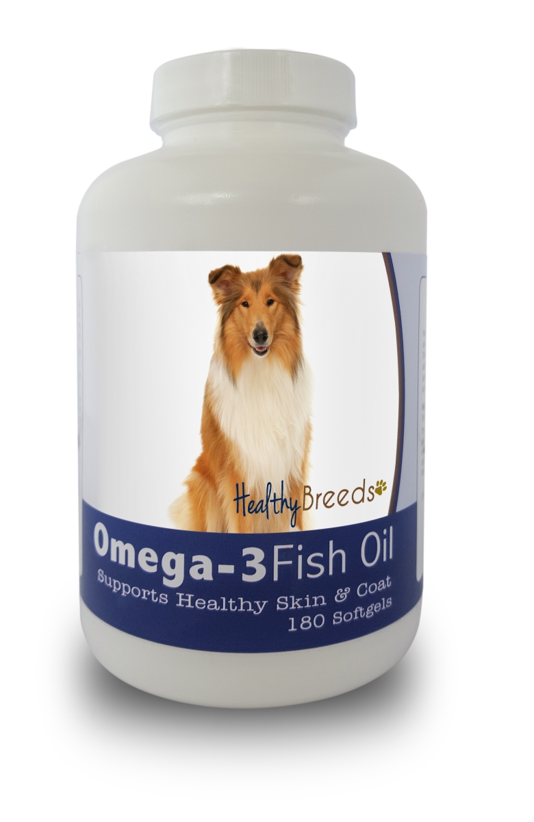 Healthy Breeds 840235141259 Collie Omega-3 Fish Oil Softgels 180 Count