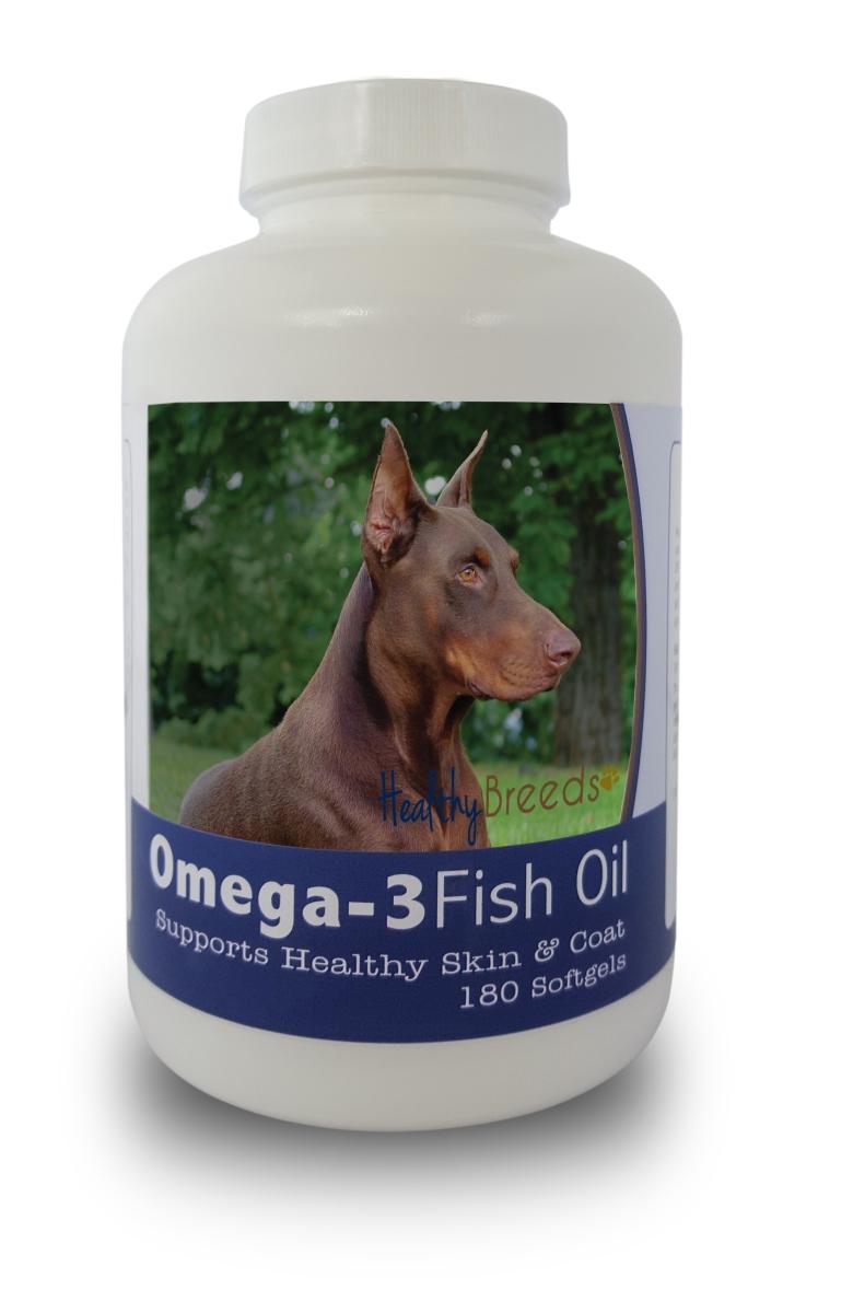 Healthy Breeds 840235141365 Doberman Pinscher Omega-3 Fish Oil Softgels 180 Count