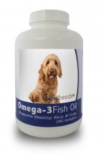 Healthy Breeds 840235141433 Goldendoodle Omega-3 Fish Oil Softgels 180 Count