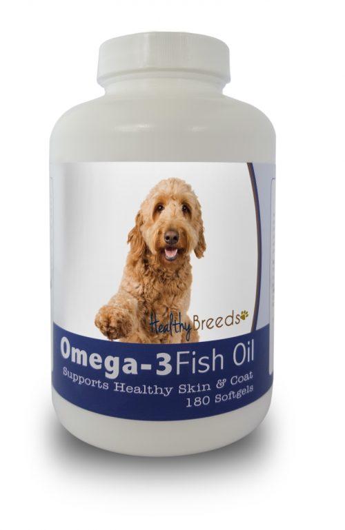 Healthy Breeds 840235141433 Goldendoodle Omega-3 Fish Oil Softgels 180 Count